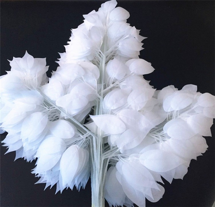 wedding decoration white leaves (8)