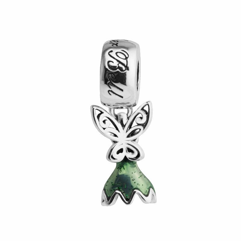 Sterling Silver À faire soi-même Jewelry Tinker Bell/'s Robe Dangle Charm Pendentif