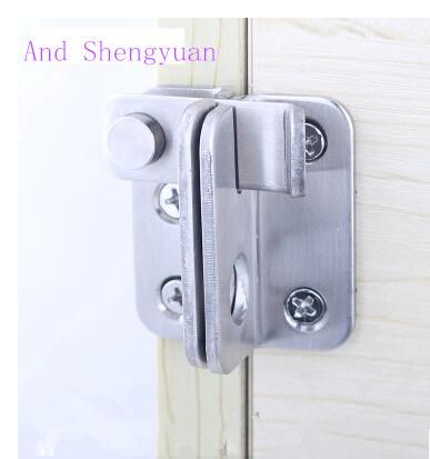 Perno puerta Acero inoxidable deslizante Accesorios para el hogar Espesar Cerradura seguridad Pestillo Manija Protector SIzquierda