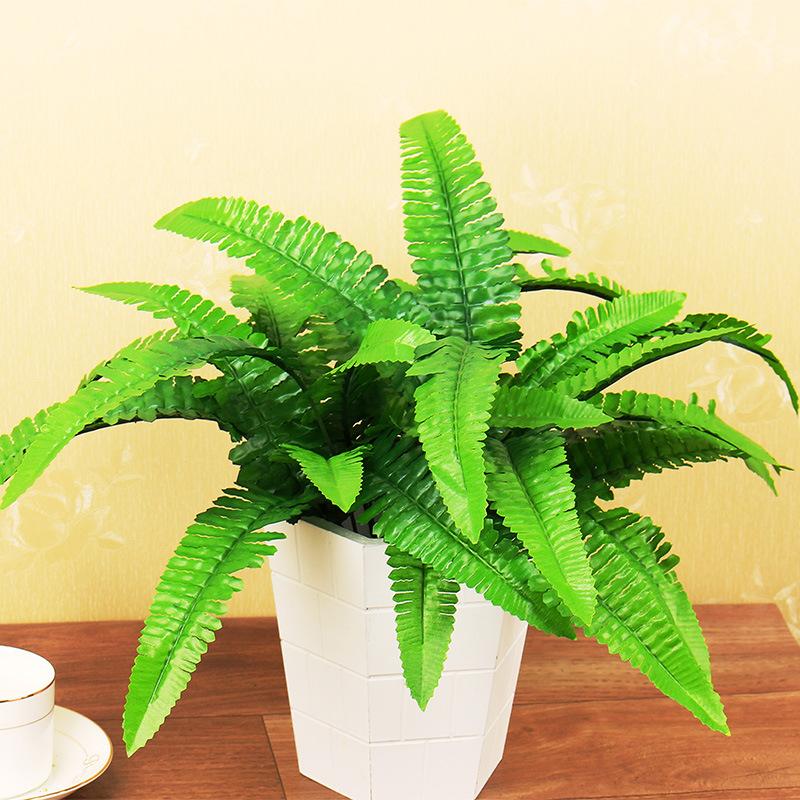 Pack of 7Heads Artificial Green Fern Bush Fake Plant DIY 35cm Fern Leaves
