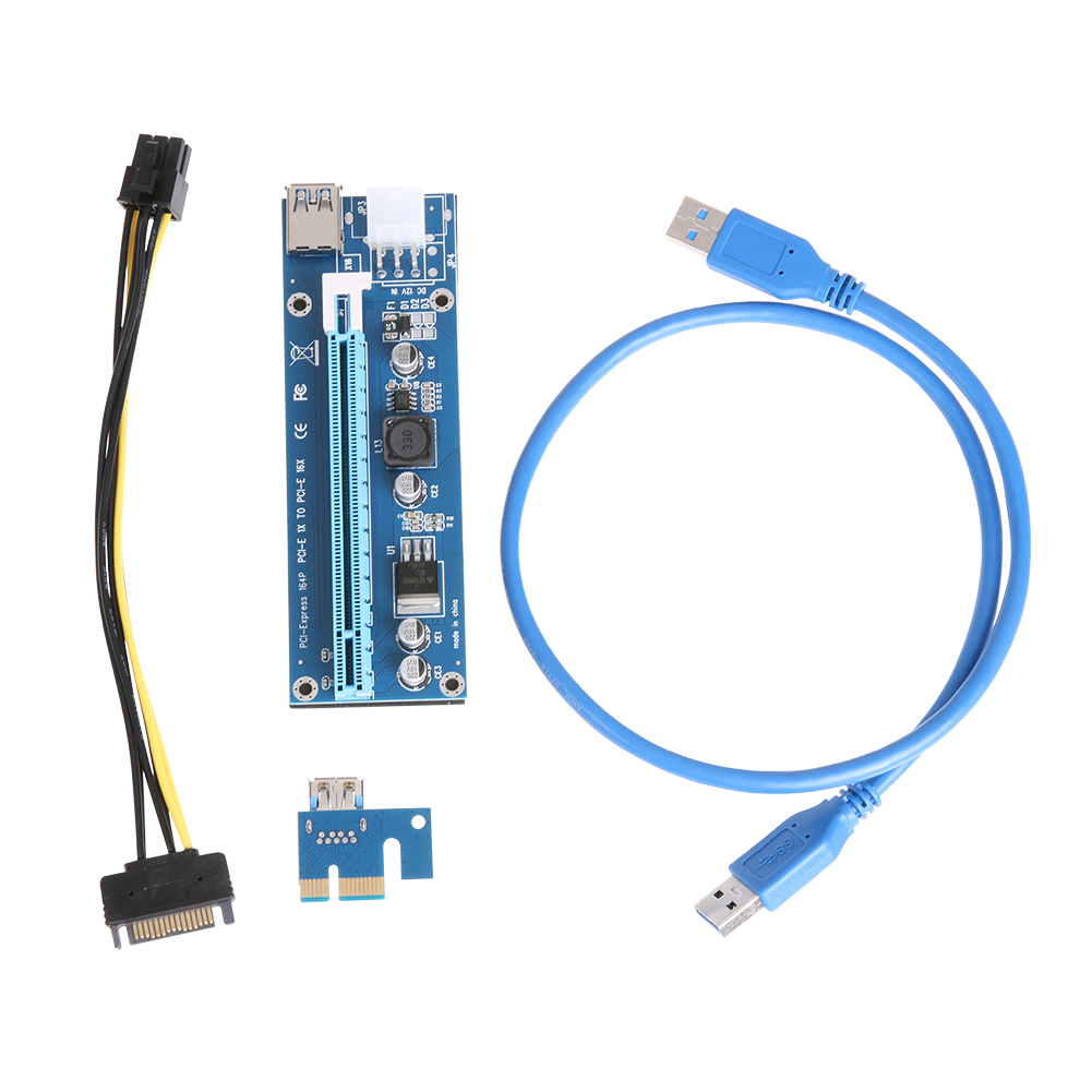 20pcs PCI-E cable 1x to 16x Mining Riser extender Card Adapter USB 3.0 Cable TO