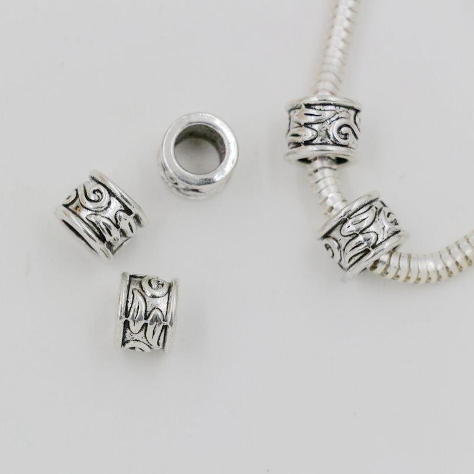 BULK BUY DISCOUNT Sterling Silver 925 Antique Spacer Slide Bead Jewellery Making