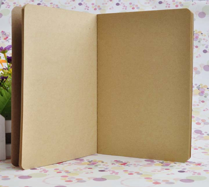 A5 Blank Inside Page Notepads Cowhide Paper Notebook Solid Color Copybook Classical Notepad Simple Notebooks Factory Direct Sales 1 4jc R