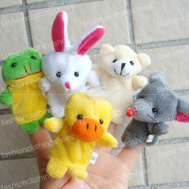 Hot sale! Express Finger Puppets Plush Toy Talking Props 10 Different Animals Set Toys For Baby Children