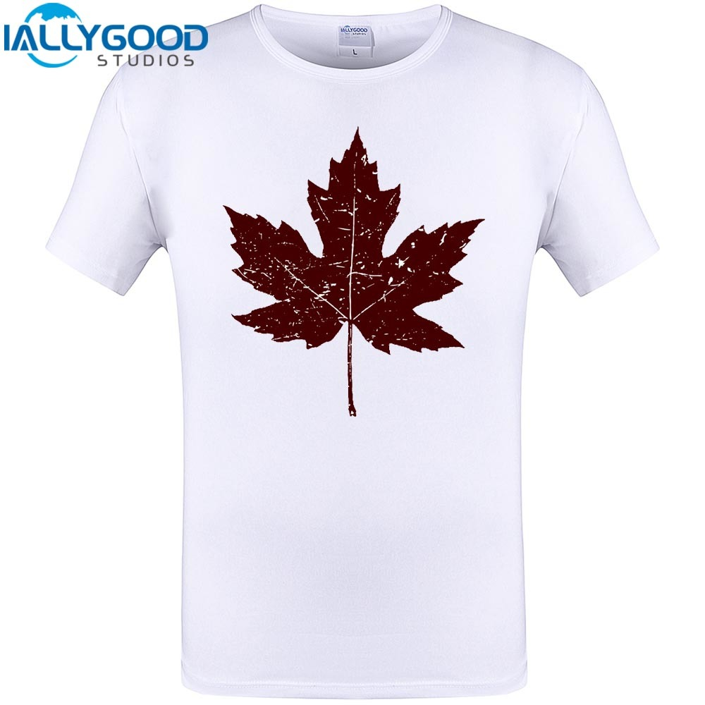 Cool Maple Leaf Print Mens Canada Fashion T Shirt Harajuku Men Short Sleeve Tops Hipster Tee Shirts 2017 Brand Clothing S-6XL