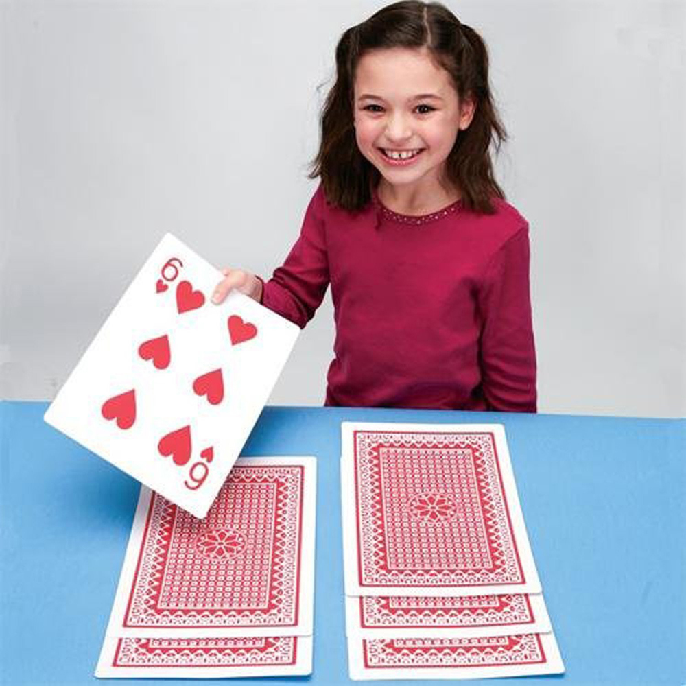Christmas Gifts King Size Playing Cards Big Deck Poker Game Magic Tricks Giant Enormous Playing Cards Family Party Entertainment Poker Cards