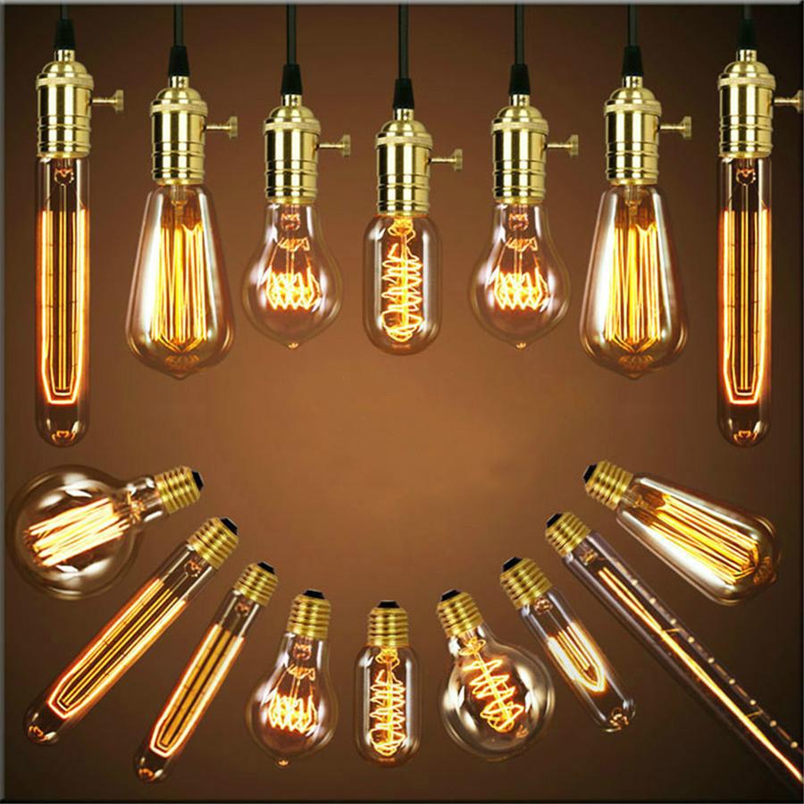 Vintage Edison lampadina 40/W E27/dimmerabile lampadina decorativa filamento a gabbia di scoiattolo T45/tubo lampadina a incandescenza confezione da 2