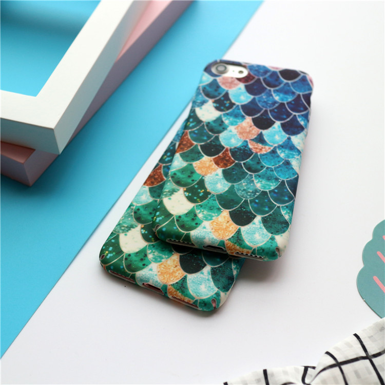 Wholesale Persnalized Customize Fish Scale Cell Phone Case for iPhone 8 8 Plus with Retail Paper Packaging Box