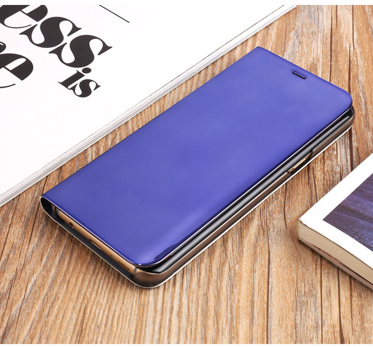 Electroplate Smart Kickstand Mirror Caes View Flip Sleep Wake For S10 Note 10 9 S9 S8 plus Note 8 S7 Edge A10