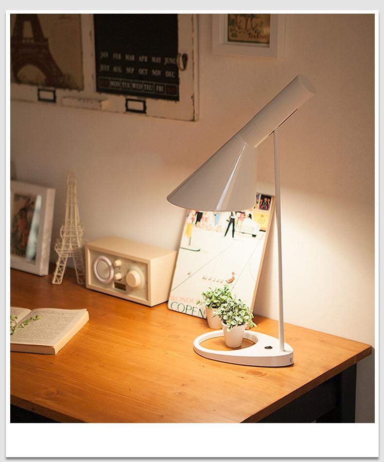 Modern Nordic Lustres AJ Tischleuchte Wohnzimmer Schlafzimmer Nachttischlampe Home Dekorative Leuchte Luminiare E27