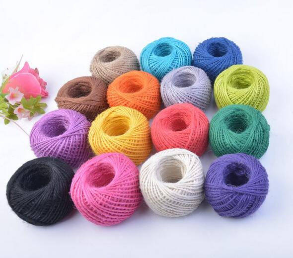 1PCS 2mm 25m Natural Hemp Round Rope Jute String Thin Twisted Cord Various Color