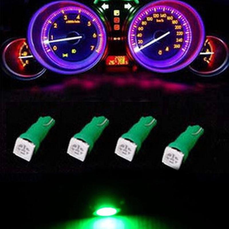 10 Pieces Purple LED T5 3030 Twist lock Socket Instrument Dashboard Lights