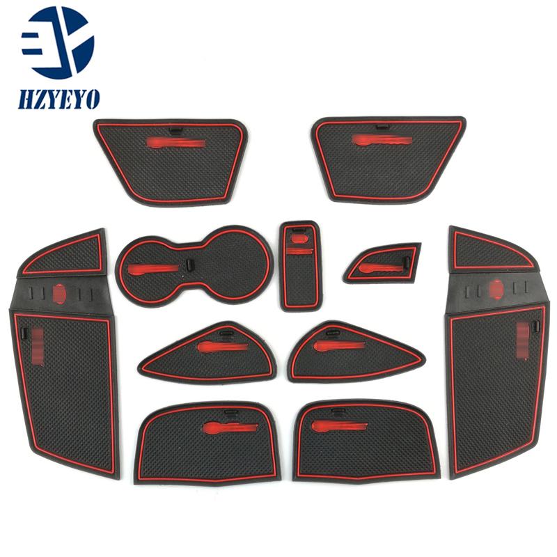 Inner Gate Slot Mats Non-Slip Interior Door Panel Mats for Ford Focus 2012
