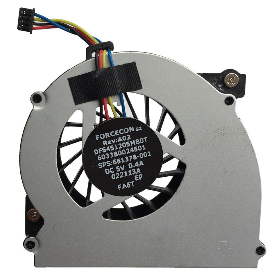 4-PIN CPU Fan For HP EliteBook 2560 2560P Laptop DFS451205MB0T FA5T 651378-001