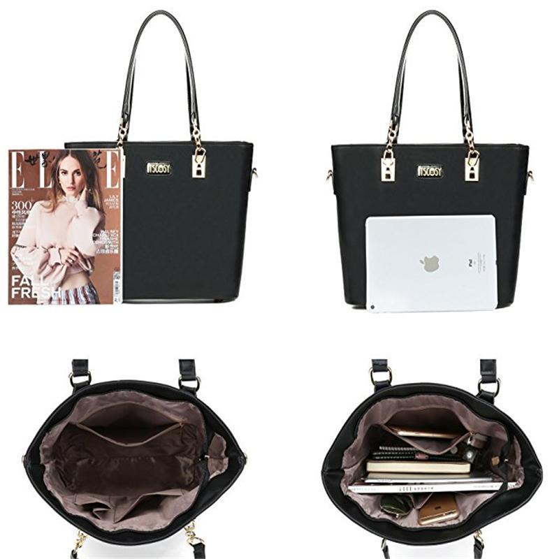ef3065fe585 Fashion Bags Totes Womens Top Handle Handbag Tote Purse Set Shoulder Bag Pu  Leather Girl Tote Purse For Ladies Satchel Handbags Wholesale Purses From  ...