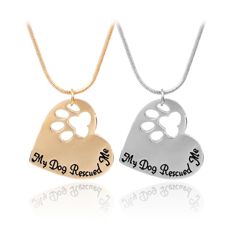 Pata de perro personalizado de piedra Placa Conmemorativa corazón y Oval Oro Antiguo