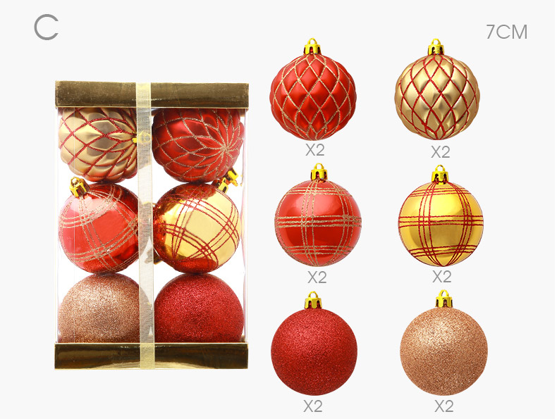 06 inhoo 2018 New Christmas Tree Decoration 7cm Ball Ornaments Pendant Accessories Red white Ball Decor For Christmas Home Party