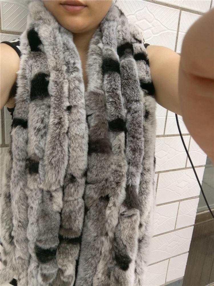 knitted rex rabbit fur scarf for women winter (27)