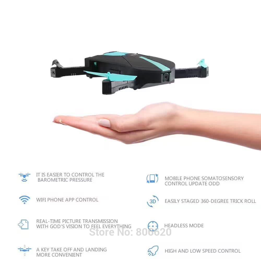 Low Cost HD Wifi Real-time Aerial Photography Foldable Toy Drone with No Head Mode & Mobile Phone & Tablet App Gravity Control_6