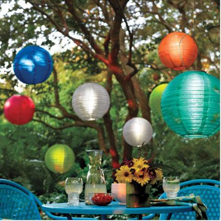Weatherproof Solar LED Garden/Patio Chinese Lanterns (1)