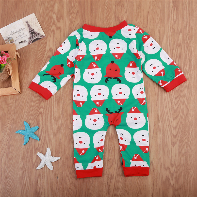 Baby Unisex Santa Romper Xmas Baby Boy Girl Christmas Fall Jumpsuit Newborn Long Sleeve Romper 2017 New Body Suit For Newborns Y18102907
