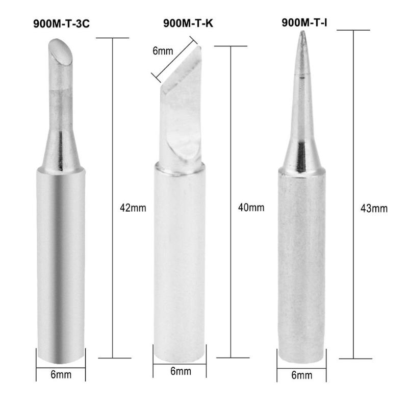 Quick 936 936A 969A 969C 236 706 Replace Soldering Leader-Free Solder Iron Tip
