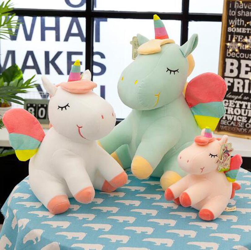 Peluche Sherpa Arco Iris Colores Cabello largo Faux fur fabric Craft orgullo Unicornio Toys