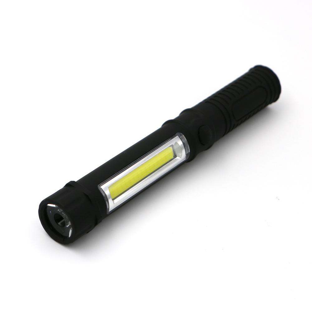 Portable Magnetic Work Inspection Light COB LED Mini Pen Light LED Multi-purpose Exploration Flashlight Battery Pen Type Camping Lighting