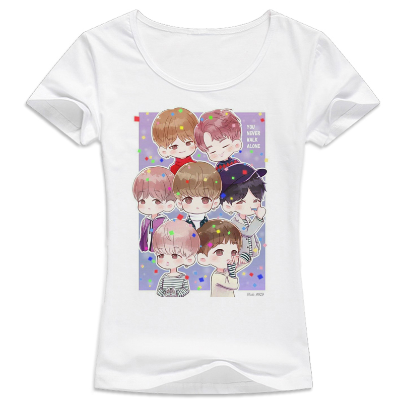 kpop bts bangtan boys t shirt women wings suga v album live print tee shirts