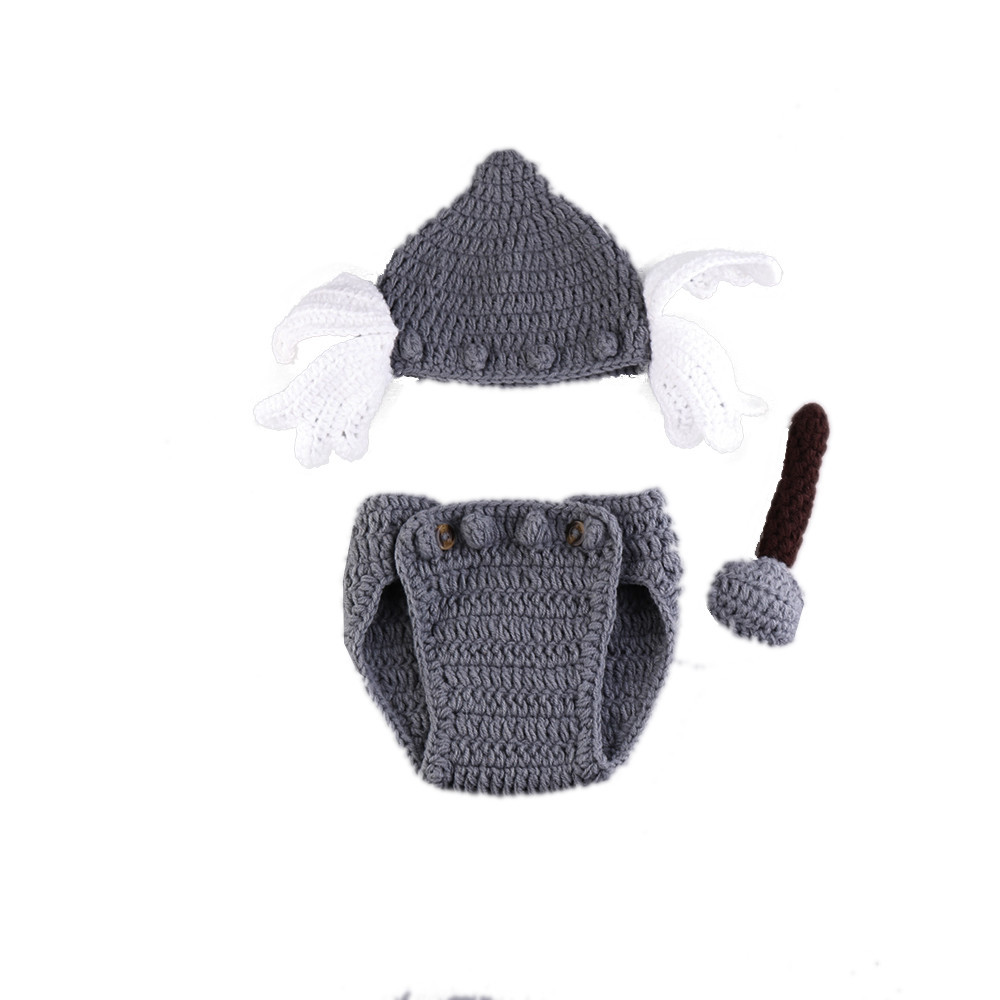 Baby Boy Cartoon Props de fotos Nuevo estilo Baby Crochet Props de fotografía Newborn Coming Home Outfits