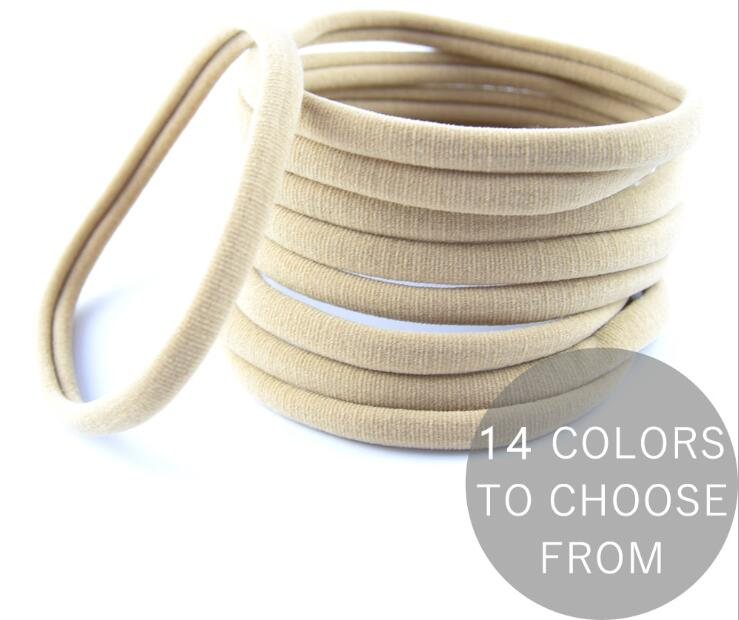 AU Seller 20pcs Nude Nylon Headband Thin-Super Soft-Stretchy-Non Dents