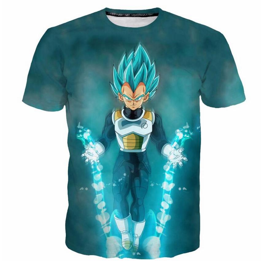 Le mélange vegeta t-shirt dbz dragn ball z super gt goku drôle anime hommes femmes cadeau tee t