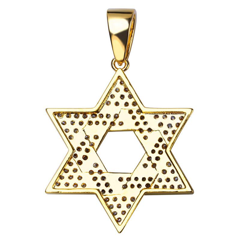Fashion Design Star of David Pendant Necklaces Luxury Gold Plated Necklace Hot Style Star Pendant Necklaces Fine Jewelry