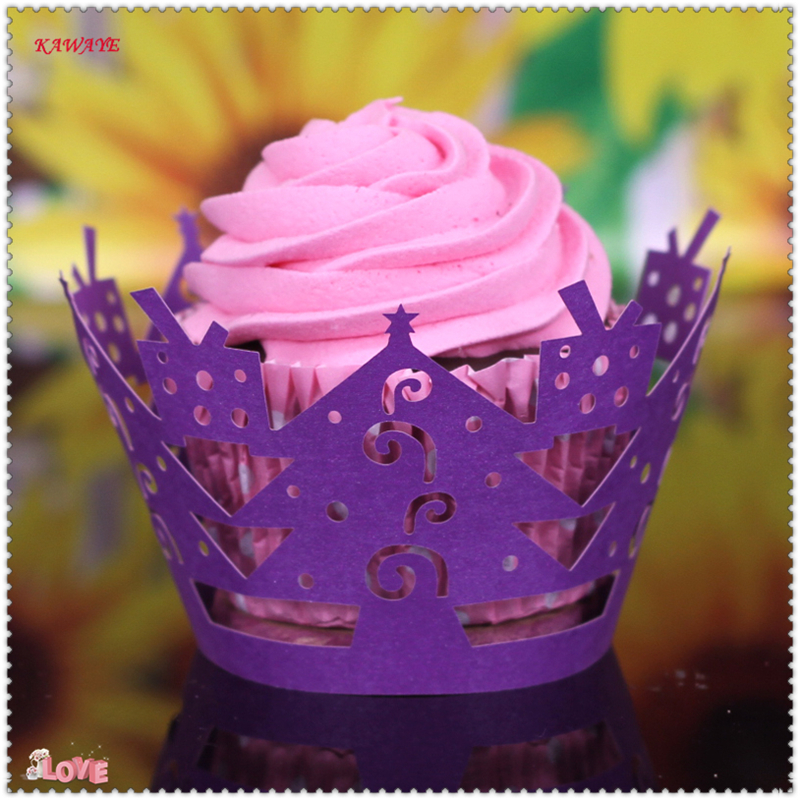 Colorful Bakeware Cupcake Paper Cake Tools Cup cake Liner Baking Muffin Box Cup Case for Party Tray Cake Mold Decor 5ZC30