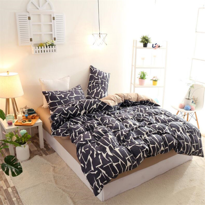 Bedding Set Cactus Duvet Cover Bed Sheet Pillow Case Single Double Queen King Plant Animal Solid Unicorn Nordicas Pink Stripe