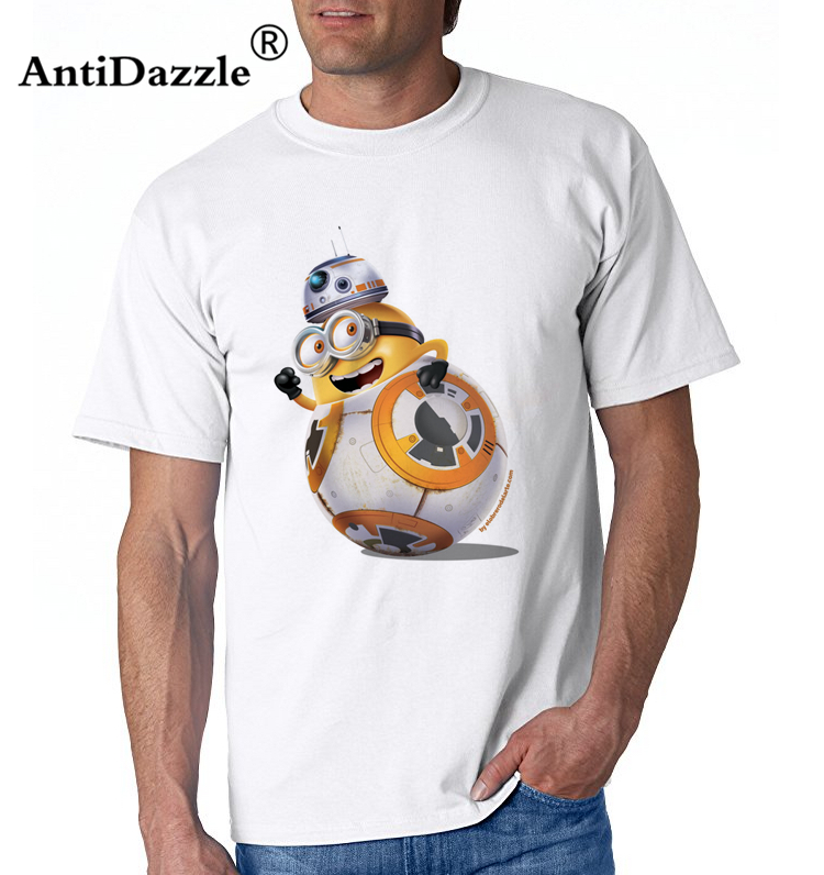 Antidazzle 2017 Summer Men Minion Soldier T Shirts Newest Fashion Minion With Gun Design T-Shirt Short Sleeve Tops Cool Male Tee