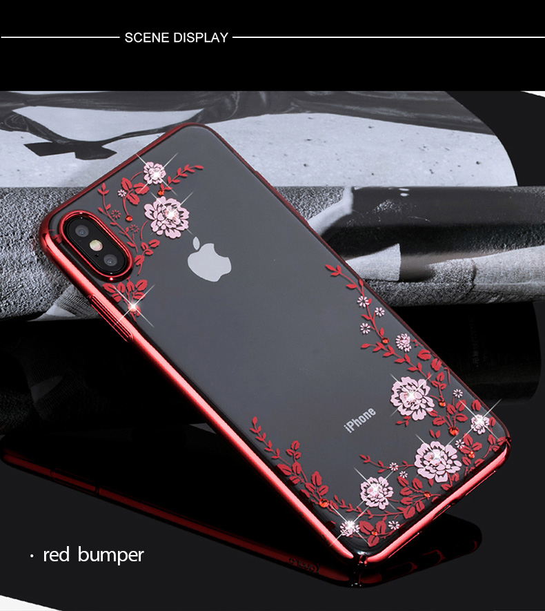 KINGXBAR Case for iPhone Xs Case Gorgeous for iPhone Xs Max Cover Luxury for iPhoneXs Cover Transparent Crystals from Swarovski (14)