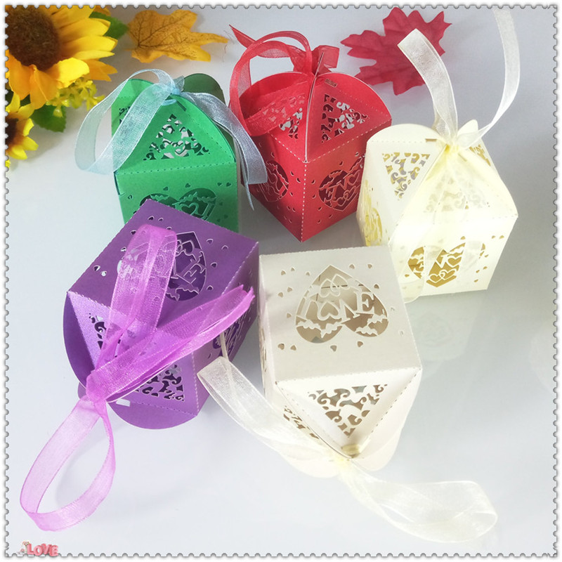 heart-shaped design wedding party candy gift box Christmas candy gift box romantic wedding decor holiday supplies 5ZT25