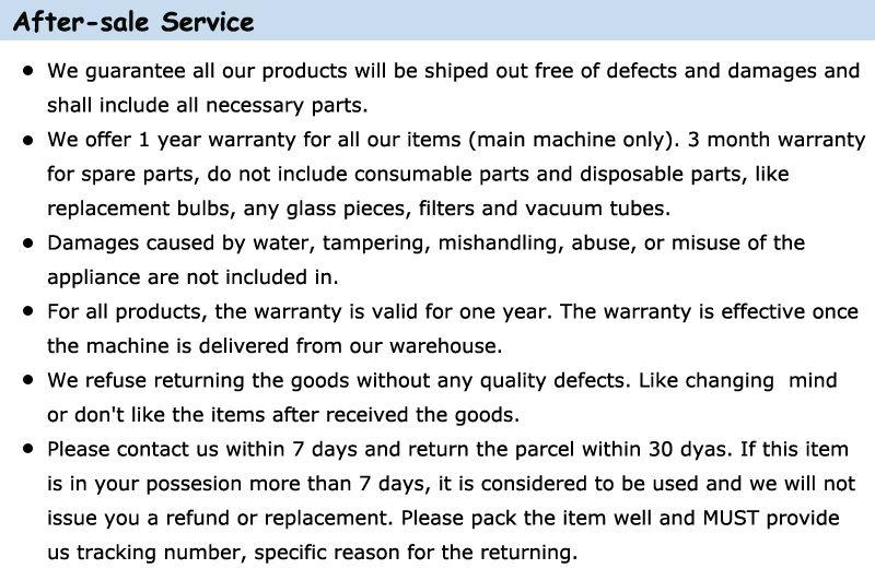 5.after-sale service details