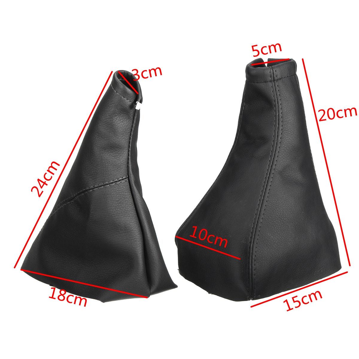 For Opel /VAUXHALL /CORSA 2001-2006 Black Handbrake Gear Gaiter Dust Cover Set