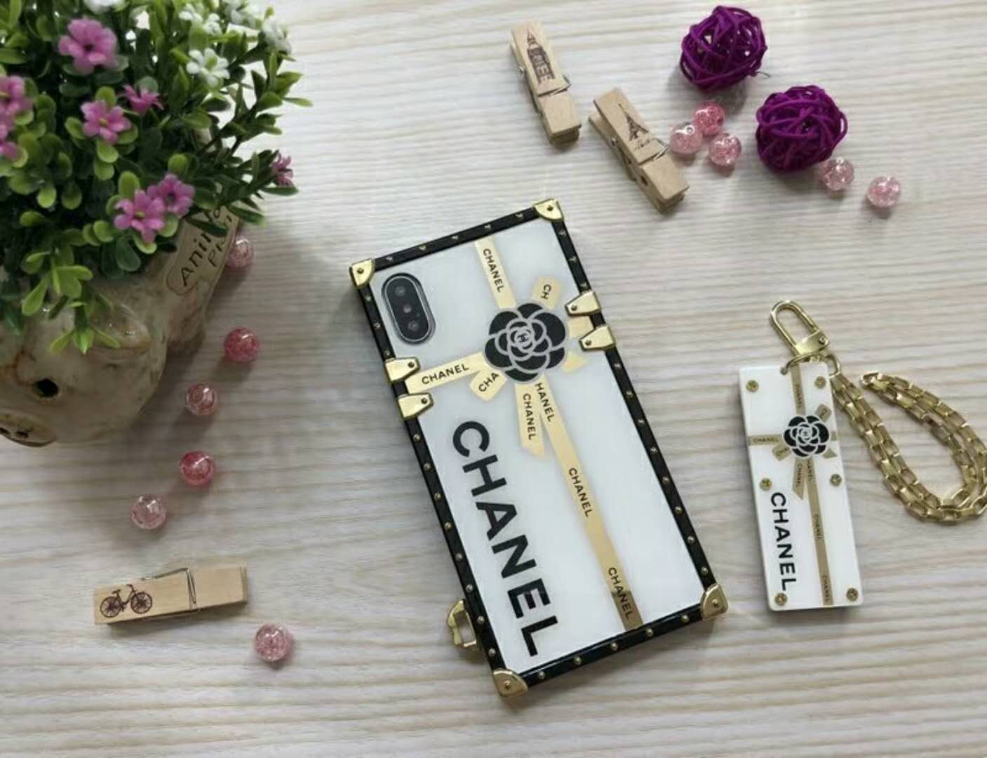 Designer Phone Case for IphoneXSMAX XR XS Iphone7P/8P Iphone7/8 6P/6sP 6/6s Fashion Brand Full Cover Luxury Phone Case with Protective Film