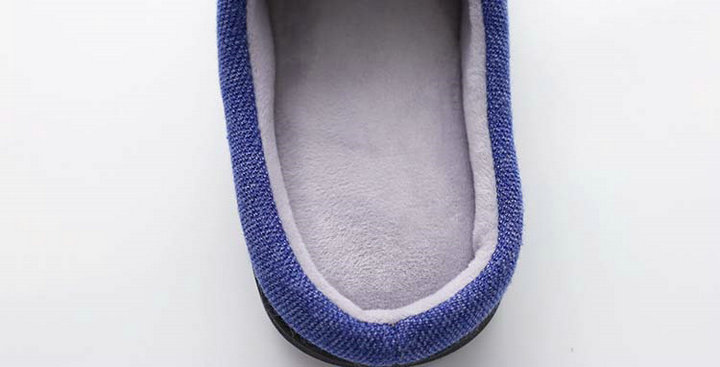 High Quality Velvet With Soft Fleece Outside Comfortable Soft Sole Men Memory Foam Home Slipper Men Shoes (7)