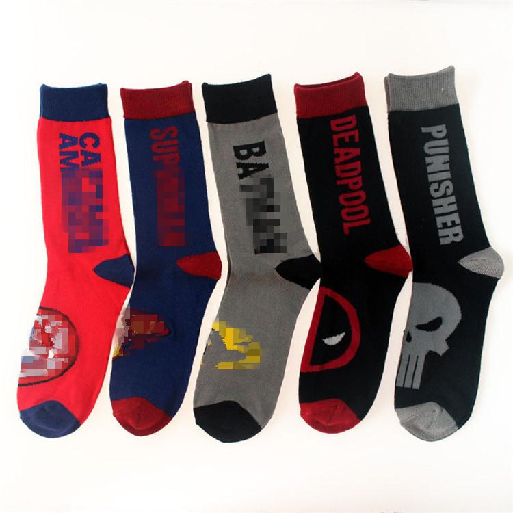 Punisher American Flag Border Cotton Solid Socks For Socks