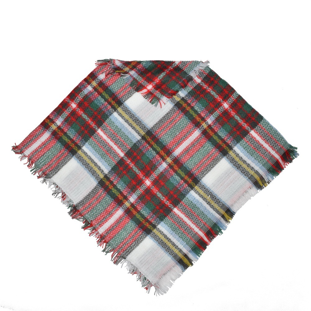 Kids Shawl Scarf Baby Girls Winter Plaid Cloak Poncho Cashmere Cloaks Outwear Children Coats Jackets Clothing Clothes For Age 3-5 Wholesale