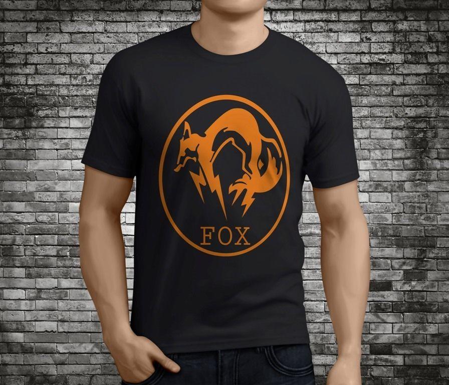 Nouveau Printemps Eté Robe Casual Foxhound Fox Hound Engrenage En Métal Solide Noir Hommes T-shirt Col Rond À Manches Courtes Imprimé Tee