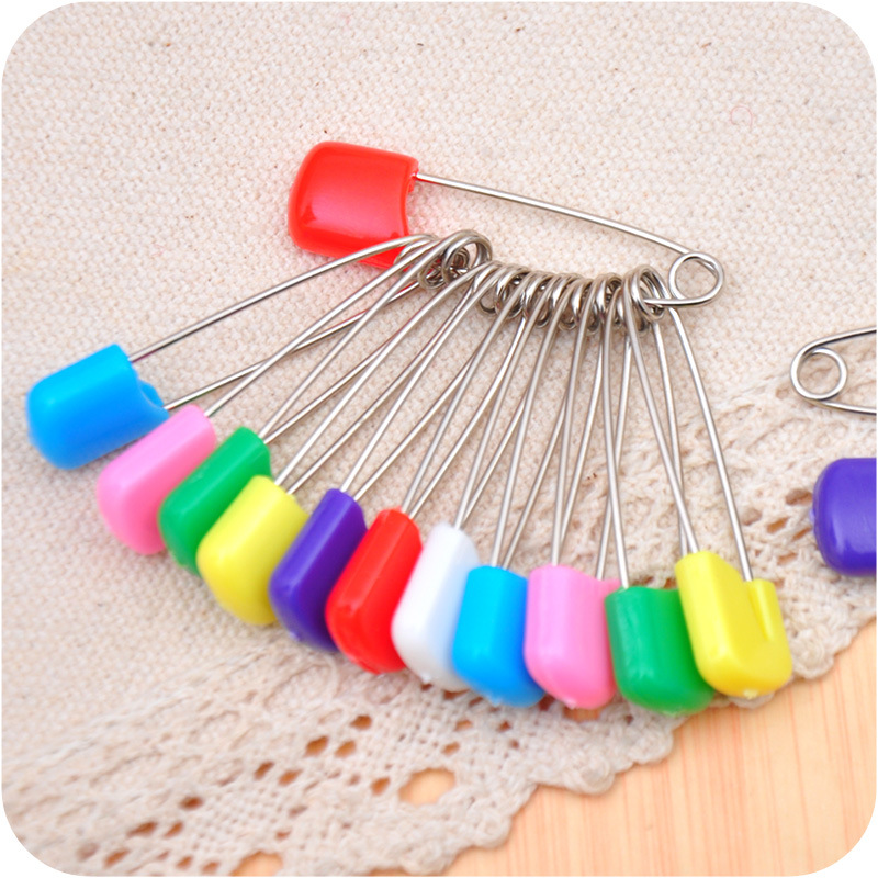 MIXED COLOURED BABY NAPPY DIAPER CLOTH PINS 50MM SAFETY PINS NAPPIES CRAFT CLIPS