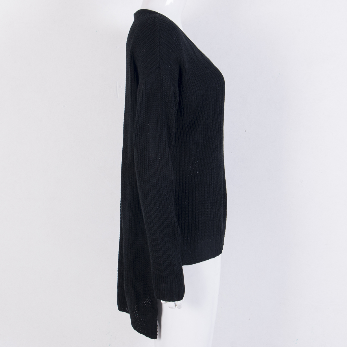 Female Ladies Warm Off Shoulder Sweaters Women's Long Sleeve Loose Knitted Sweater Jumper Knitwear Outwear C18110601
