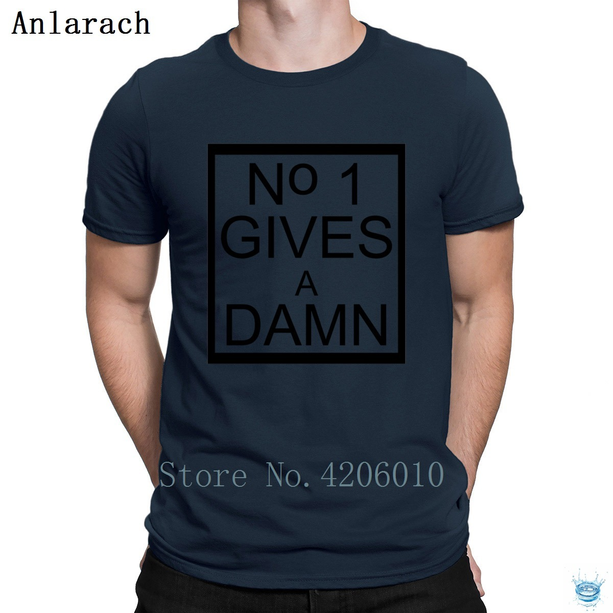 No One Give A Damn Tshirt Male Short Sleeve Customized Authentic T Shirt For Men Pictures Fit Trendy Summer Style