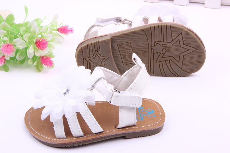 Fashion Summer Flowers Baby Shoes Newborn Kids First Walkers Toddlers Rubber Sole Infants Girls Princess Shoes