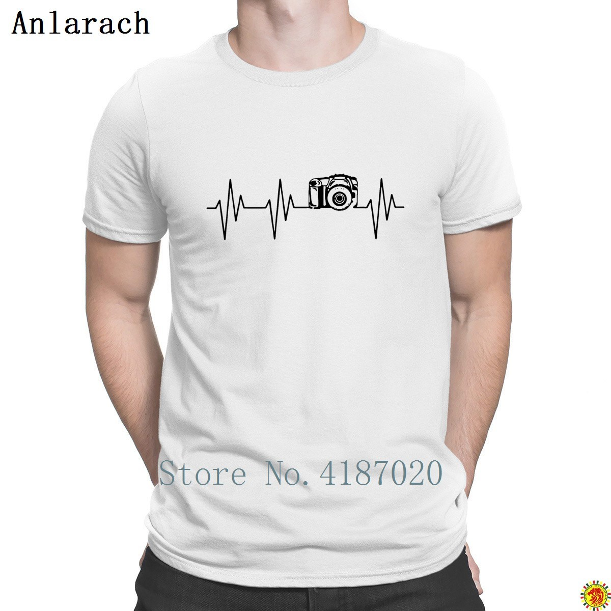 Dslr Camera Photographer T-Shirt High Quality Creative Summer Style Tshirt For Men Best HipHop Short Sleeve Anlarach Branded